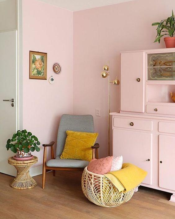 Căn phòng với nội thất pastel ngọt ngào