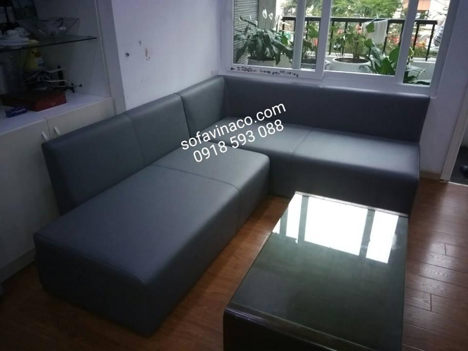 Công trình bọc ghế sofa da tại Huyndai Hillstase Hà Đông