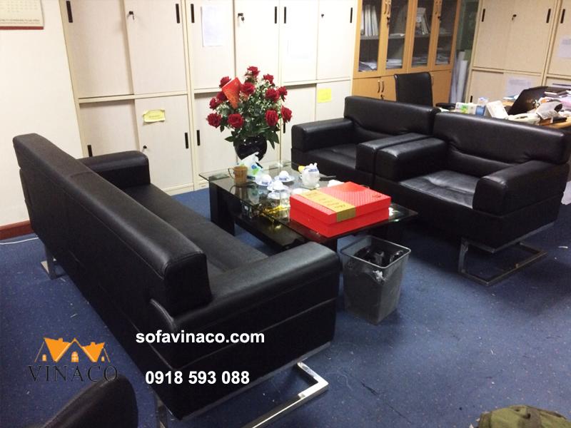 Công trình bọc lại ghế sofa văn phòng tại tòa nhà Hồng Hà Hoàn Kiếm