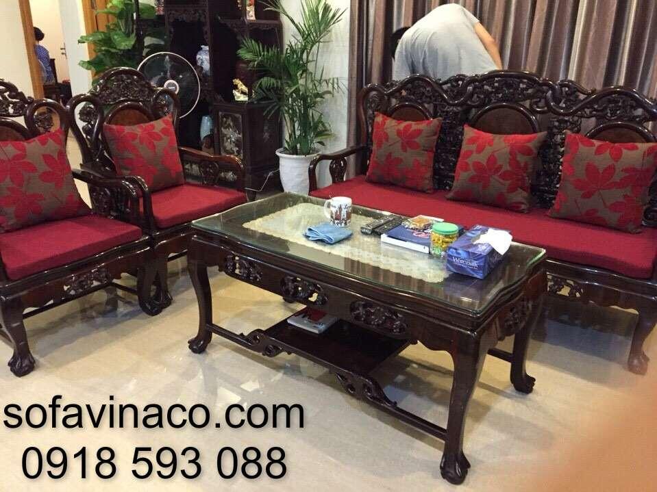 Đệm ghế gỗ giả cổ nhà Bác Hà Lạc Long Quân