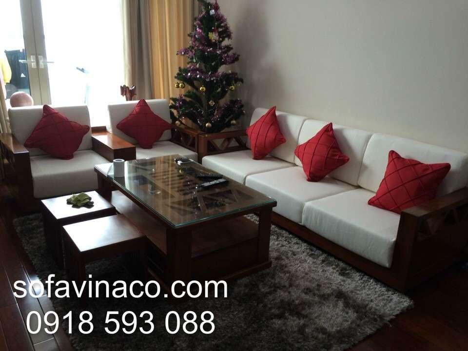 Đệm ghế sofa gỗ 0210- Chị Mai Mandarin Graden