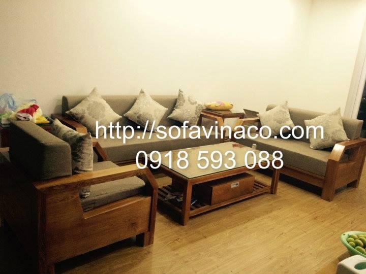 Đệm ghế sofa gỗ tone màu be