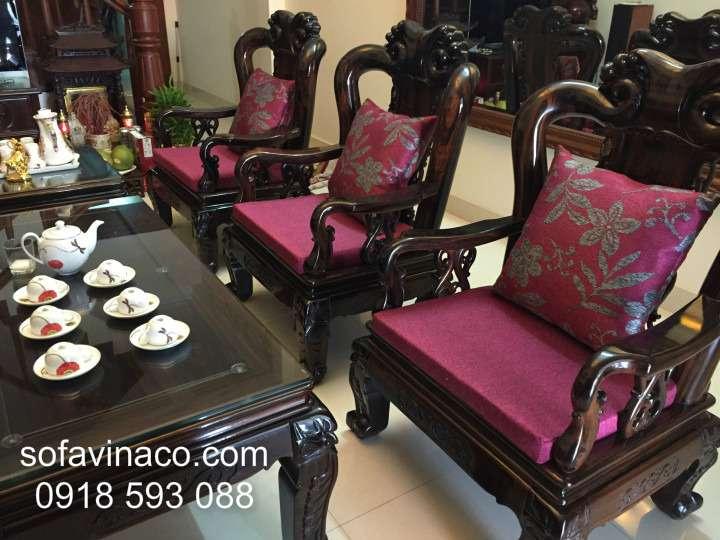 Đệm ghế sofa gỗ 0710- Cô Luyến- Ngọc Hồi
