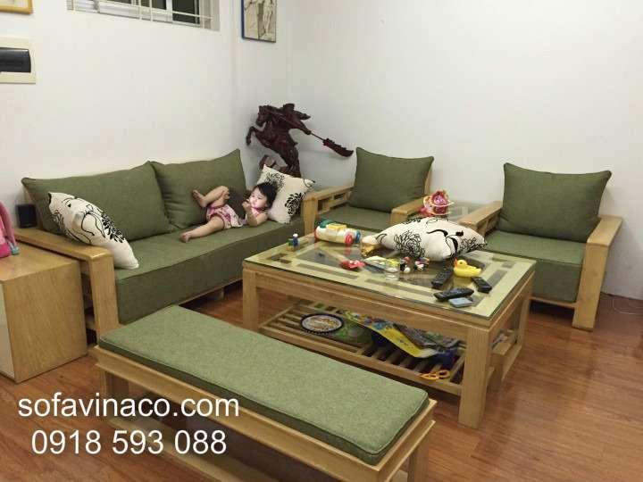 Đệm ghế sofa gỗ 0910- Anh Tuấn-HH2 Bắc Hà
