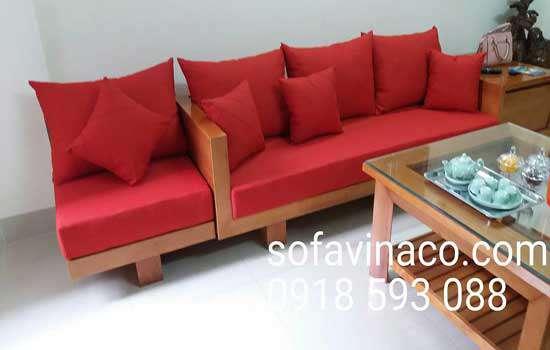 Đệm ghế sofa gỗ cho phòng khách