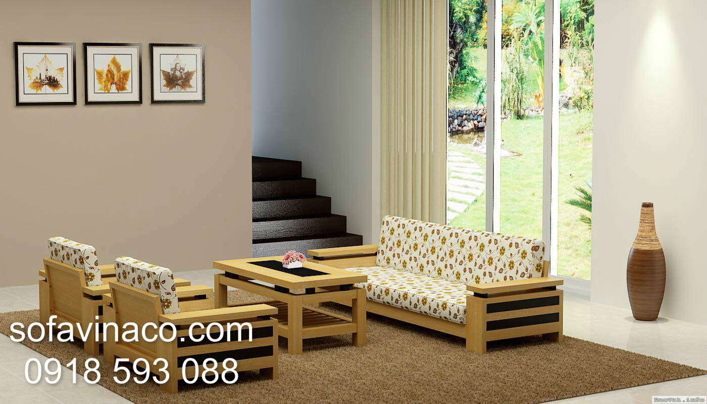 Đệm ghế sofa gỗ hiện đại tại sofa Vinaco