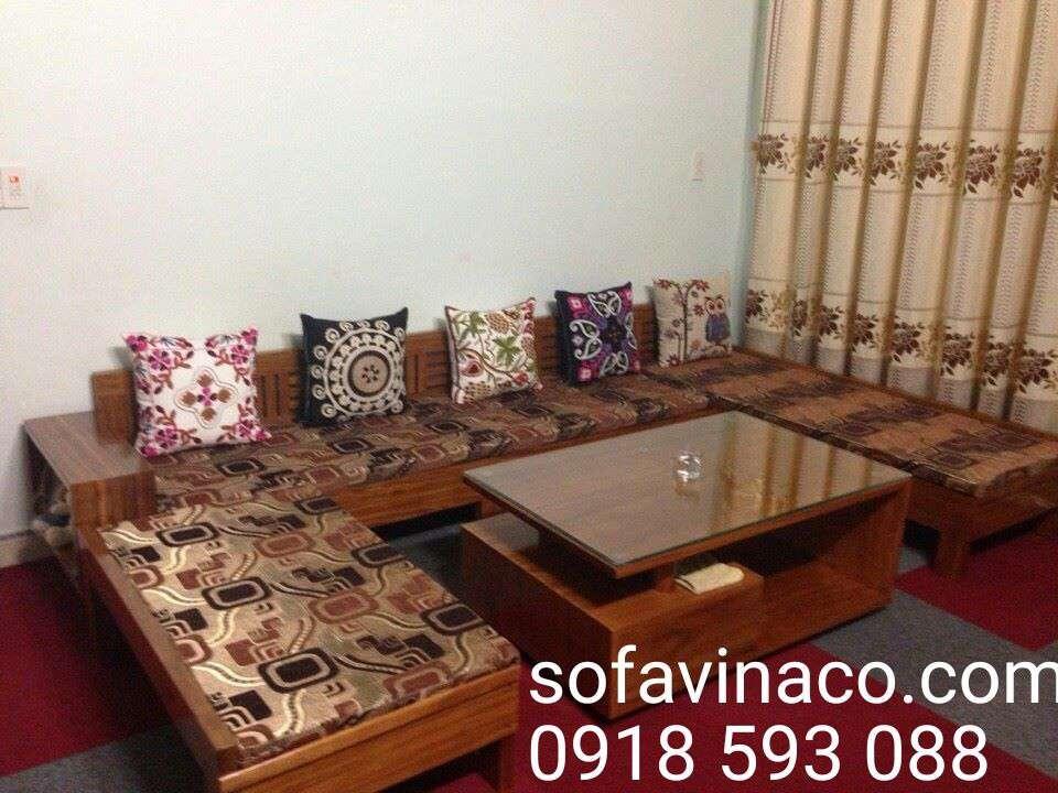 Đệm trải cho ghế sofa gỗ tiện dụng