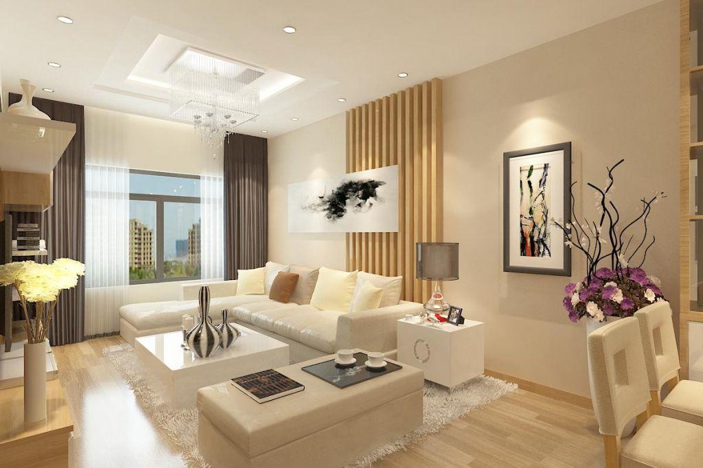 Gợi ý thiết kế phòng khách với màu be