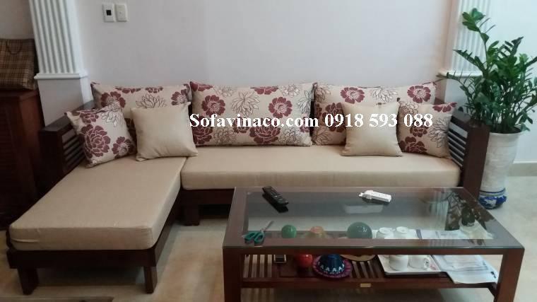 Làm đệm ghế sofa gỗ tại Phạm Văn Đồng