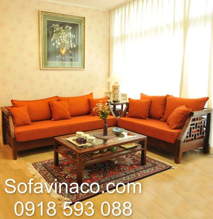 Mẫu đệm ghế sofa gỗ kiểu Grand Bois
