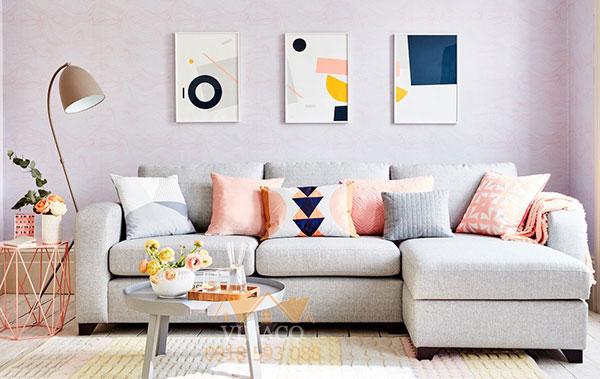 Mẫu ghế sofa góc L sáng màu