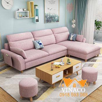 Mẫu ghế sofa vải đơn giản, tiện nghi hiện đại