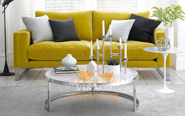 Mẫu sofa đôi nhỏ gọn tiết kiệm diện tích phòng khách