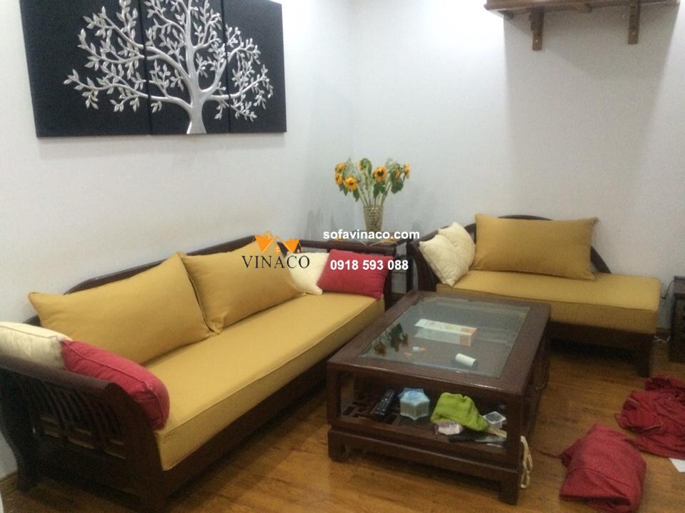 May vỏ đệm ghế nhà chị Trang, Trương Định