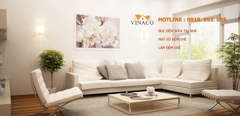 May vỏ đệm ghế tại Vinaco giúp thay đổi diện mạo sofa nhà bạn