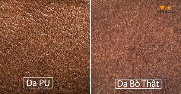 So sánh ưu nhược điểm của da Pu và da bò thật