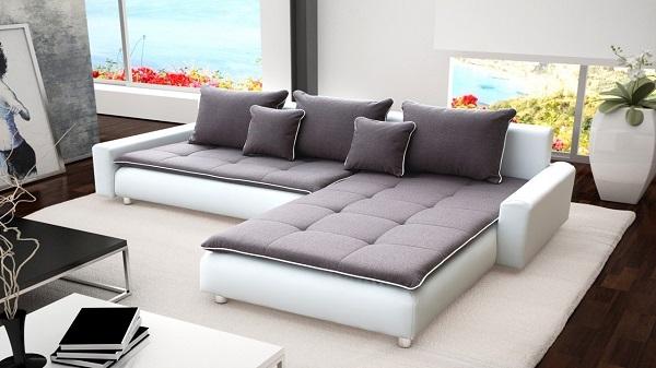 Sofa bọc da vẻ sang trọng và đẳng cấp
