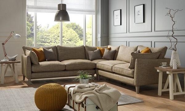 Sofa chữ L phù hợp mọi không gian phòng khách