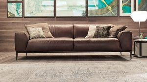 Sofa da cao cấp D004