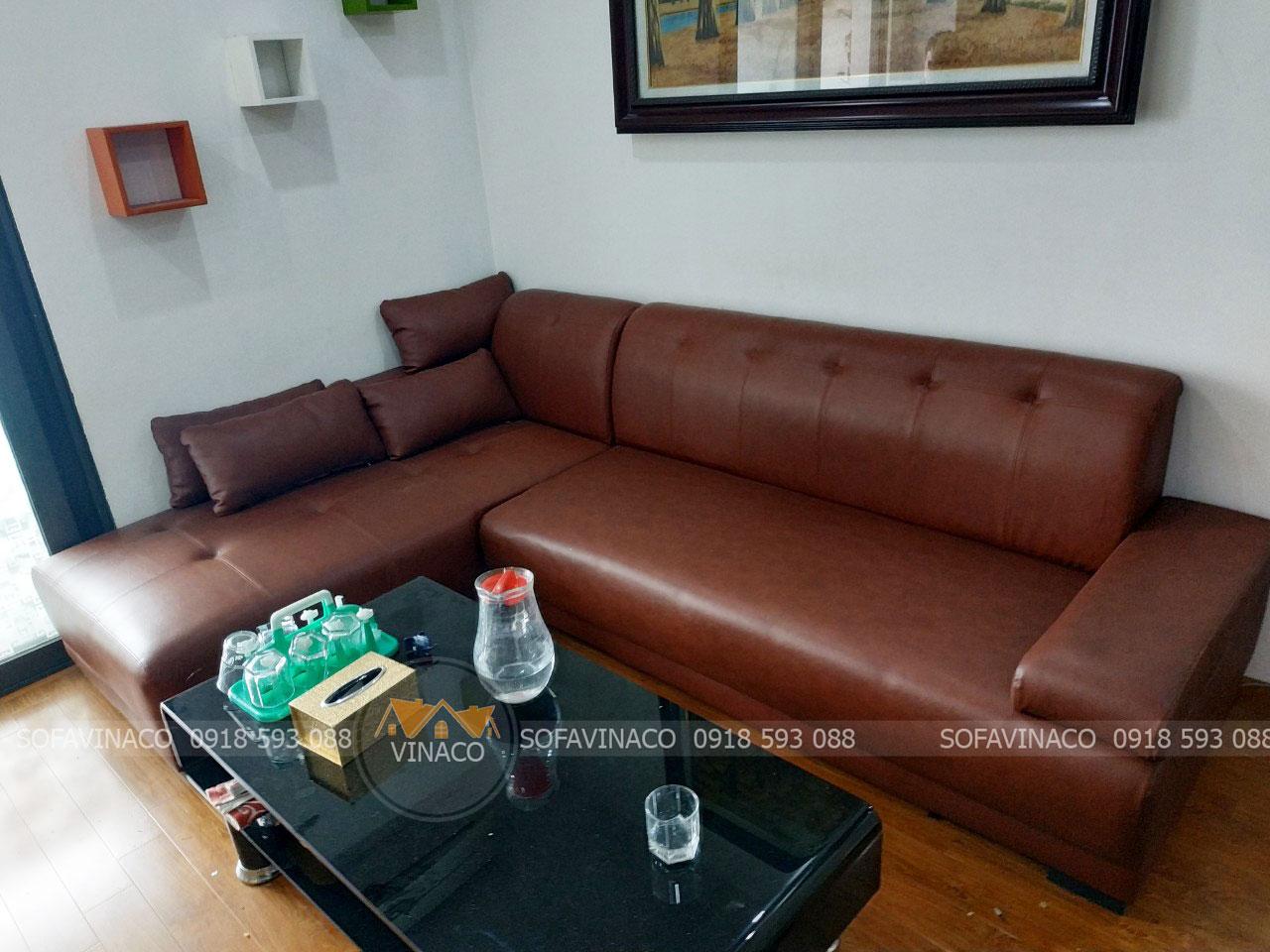 Sofa da thật đem lại cho không gian nhà bạn đẳng cấp mới