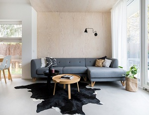 Sofa gam màu lạnh cho không gian dịu nhẹ