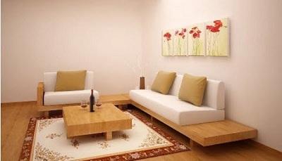 Sofa ngồi bệt truyền thống theo phong cách Nhật