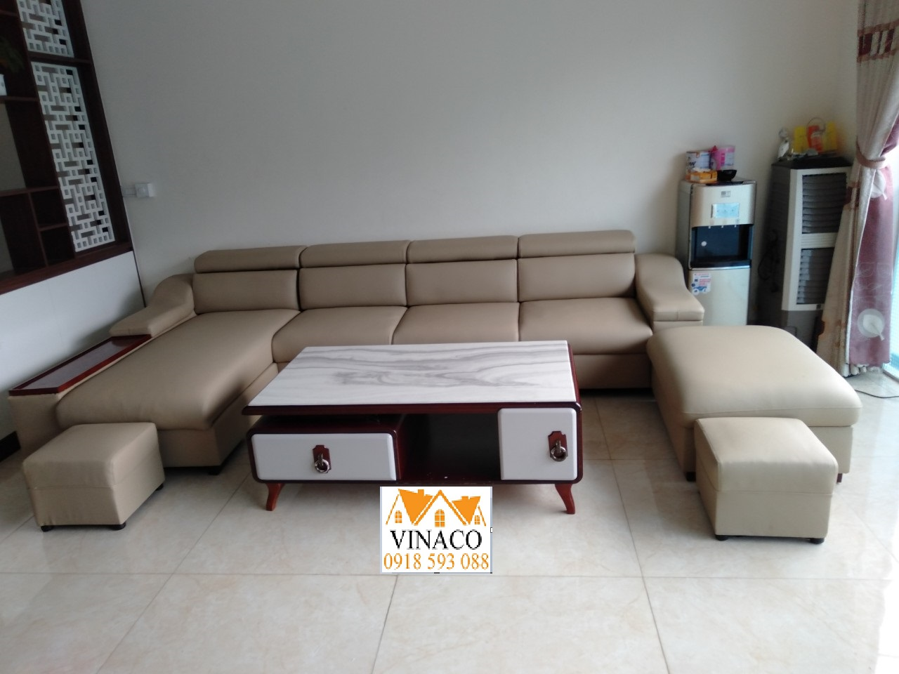 Thay lại bọc ghế sofa cho chị Thúy ở Như Quỳnh- Hưng Yên