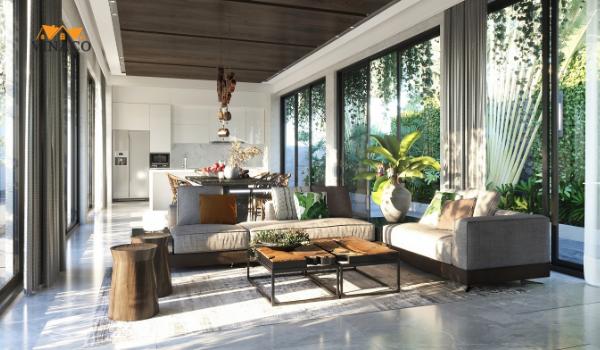 Thiết kế nội thất với phong cách nhiệt đới
