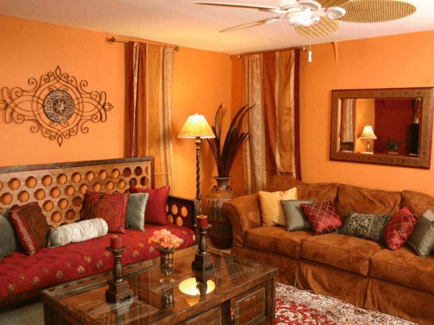 Thiết kế phòng khách mang phong cách Ấn Độ