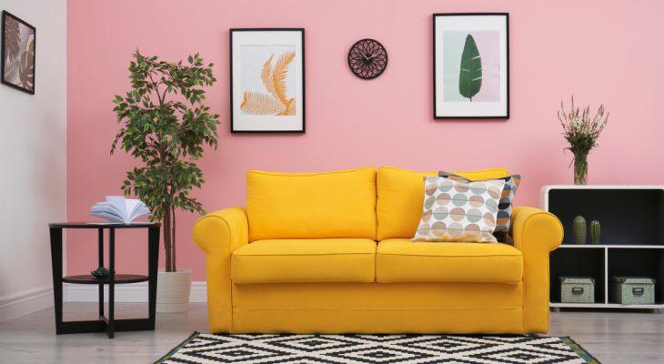 Trang trí phòng khách đón đông ấm áp với đệm ghế sofa